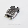 FreeshippingAOK 1 8S Lipo Battery Voltage Tester Low Voltage Buzzer Alarm Battery Voltage Checker with Dual