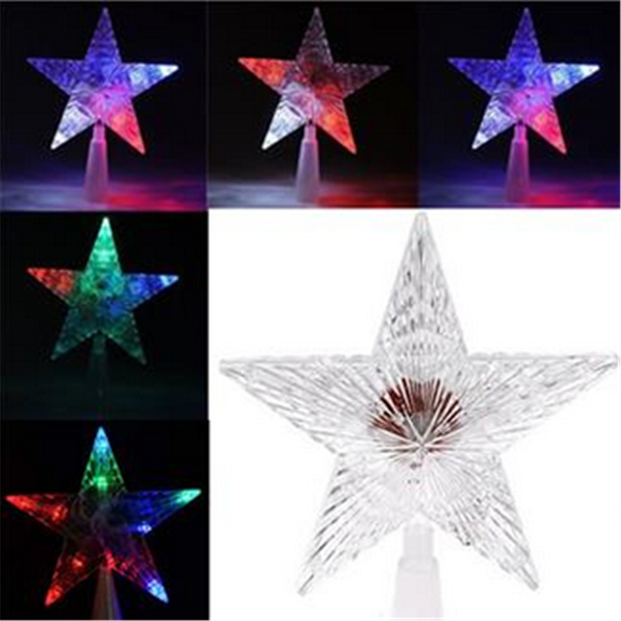 Battery-Powered LED Christmas Tree Topper Star Lights Lamp Fairy Decoration <br><br>Aliexpress