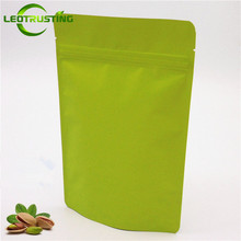 Buy Leotrusting 50pcs Stand Matt Green Aluminum Foil Food Ziplock Bag Doypack Coffee Tea Package Bag Fidget Spinner Toys Bag for $11.84 in AliExpress store