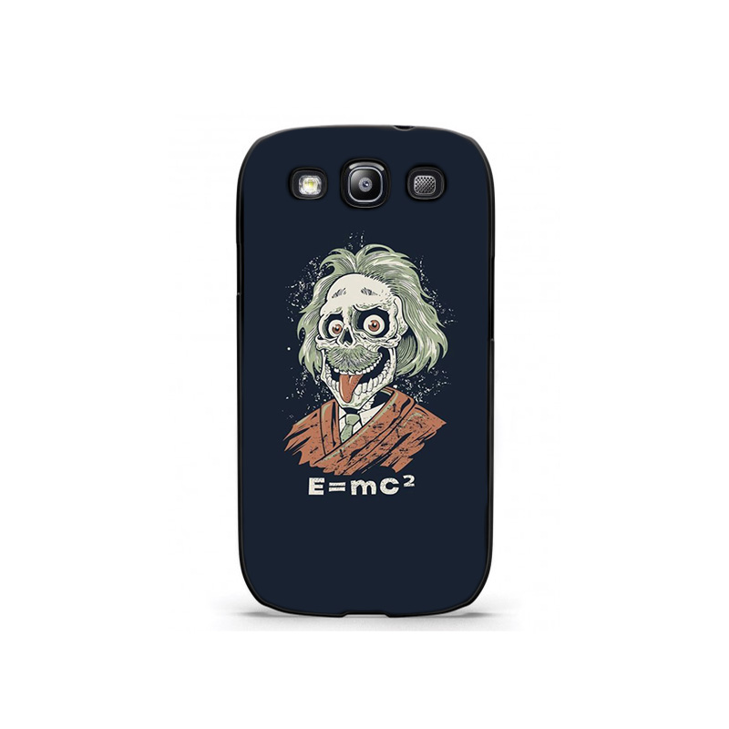 Albert Einstein Caricature Wallpaper Plastic Protective Shell Skin Bag Case For Galaxy S3 s3mini s5 s4mini Cases Hard Back Cover(China (Mainland))