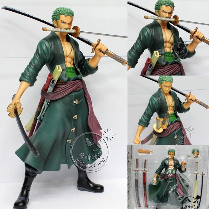 Japanese anime one piece 23cm Roronoa Zoro Accessories PVC action figure Toys - East to West Toy Town store