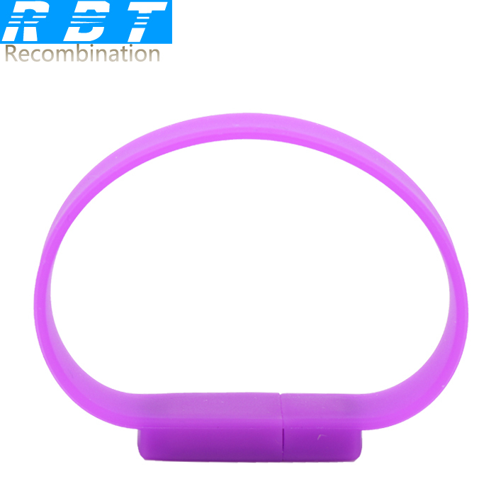 New RBT Usb Flash Drive Real Capacity Colorful Silicone Bracelet Wrist 8GB 16GB 32GB Pen Drive Memory USB Stick Pendrive For PC(China (Mainland))