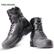 Buy FREE SOLDIER Outdoor tactical ankle-high shoes military men boots, autumn-winter, warm safily, hiking, mountaineering for $129.00 in AliExpress store