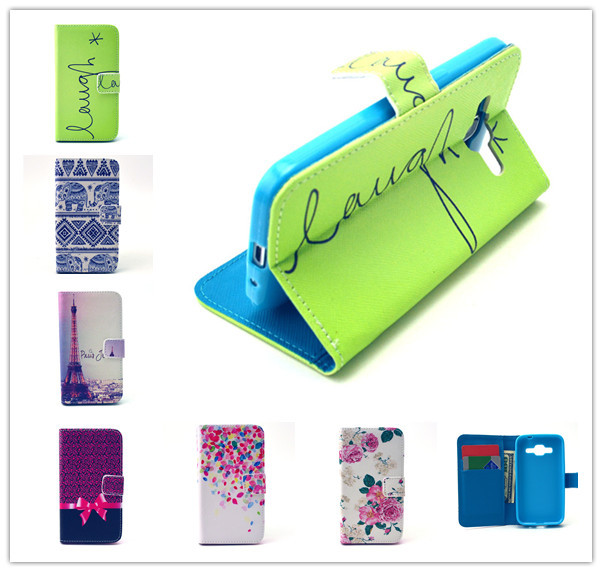 Creative Design Wallet Case for Samsung Galaxy Core Prime – 12 Styles