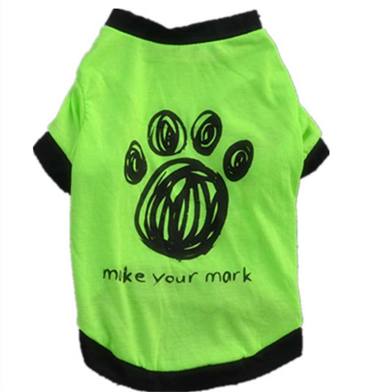 Small Dog Cat Puppy Vest T-Shirt Coat Pet Clothes Summer Apparel Costumes Trendy Soccer Jerseys(China (Mainland))