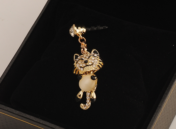 Free shipping  High Quality Phone Accessories a smiling tiger Dust Plug headphone Plug For Iphone & Ipad & Samsung& HTC