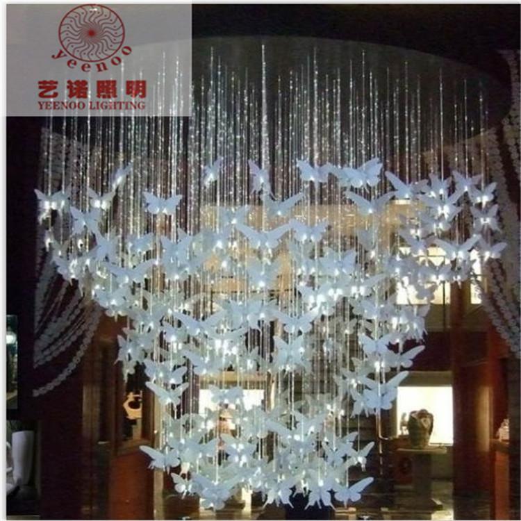 fiber optic star ceiling kit Butterfly bedroom lamp creative fashion art works stair lights lamp car fiber optics led fibre(China (Mainland))