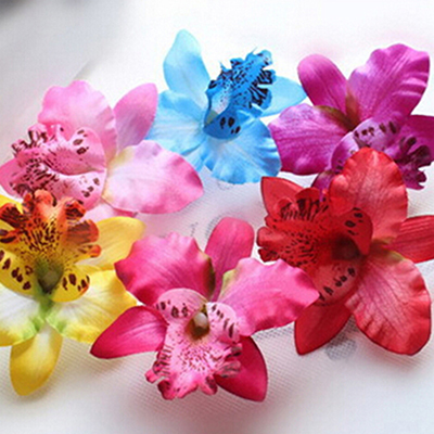 1 x Bridal Wedding Orchid Flower Hair Clip Barrette Women Girls Accessories summer style 6 Colors(China (Mainland))