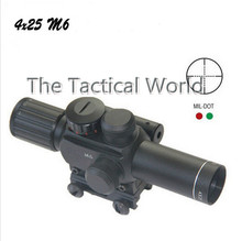 M6 Hunting scope for rifle discount 4x25 Night Vision with Red Dot Laser Sight For Riflescope Waterproof Fog Proof Shockproof(China (Mainland))