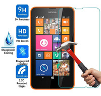Lumia 630 635 Tempered Glass Film sFor Nokia Lumia 630 635 N635 N630 Screen Protector 2.5D Rounded Edge 9H Hardness