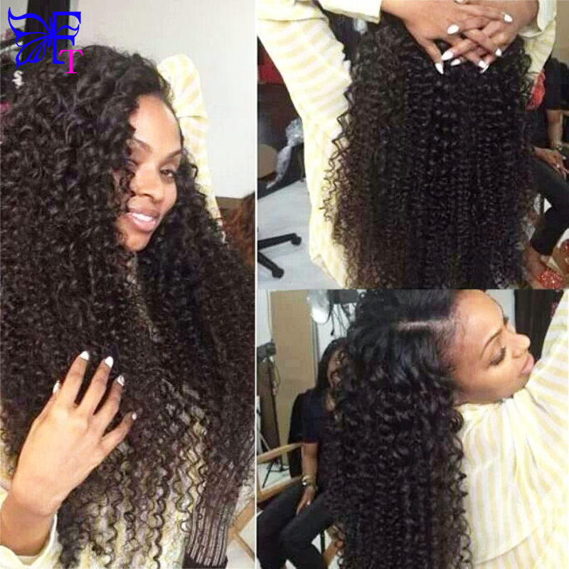 Фотография Kinky Curly Human Hair Wigs 7A Grade Glueless Lace Front Human Hair Wigs For Black Women Kinky Curly Full Lace Human Hair Wigs