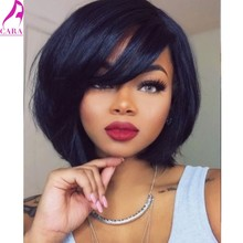 CARA Bob Wig 7A Silky Straight Short Human Hair Bob Wigs Full Lace Human Hair Wigs For Black Women Lace Front Human Hair Wigs(China (Mainland))
