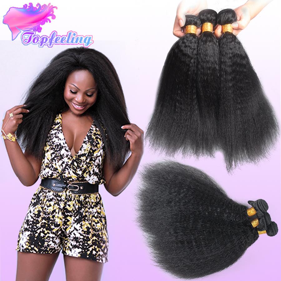 Фотография 7A Best Mongolian Kinky Straight Hair Weave 3 Bundles/lot Mongolian Yaki Straight Virgin Human Hair 3 Pcs Lot Extension DHL Free