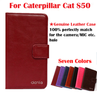 Caterpillar Cat S50 Case,High Quality Genuine Flip Leather Phone Case Cover For Caterpillar Cat S50 Real skin Case Free Shipping