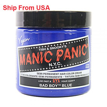 Сша бесплатная доставка маниакально паника номера — токсичных здоровый краска для волос Bad Boy синий 4 унц. 10011043