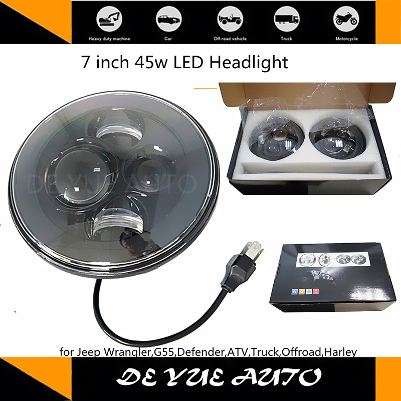 Good good news! 190 usd including shipping cost led headlight 45w driving lights 7 inch work light car light led(China (Mainland))