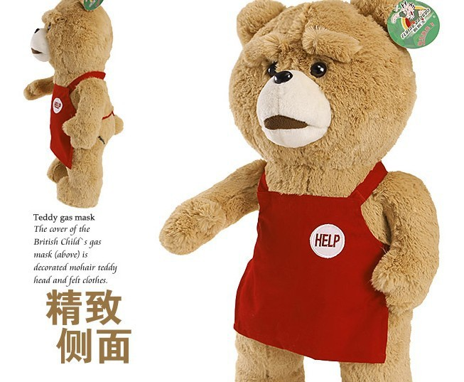 50cm Stuffed Bears Discount Giant Teddy Bear Plush Toy Toys for the girl children Ted movie(China (Mainland))