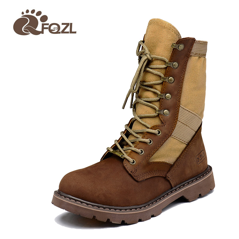 New 2016 Genuine Leather Tactical Boots Military Tactical Duty Work Boot Men Army Combat Boots Shoes size 38-46(China (Mainland))