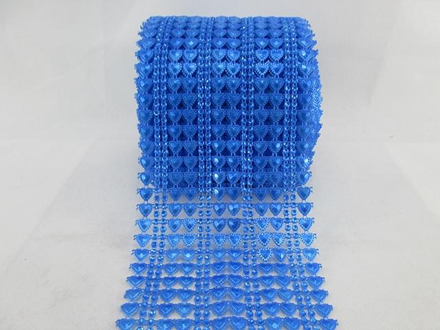 10Y40570 W:115mm W:115mm heart dot plastic rhinestone mesh trimming sew on mesh trim Wedding Decoration(China (Mainland))