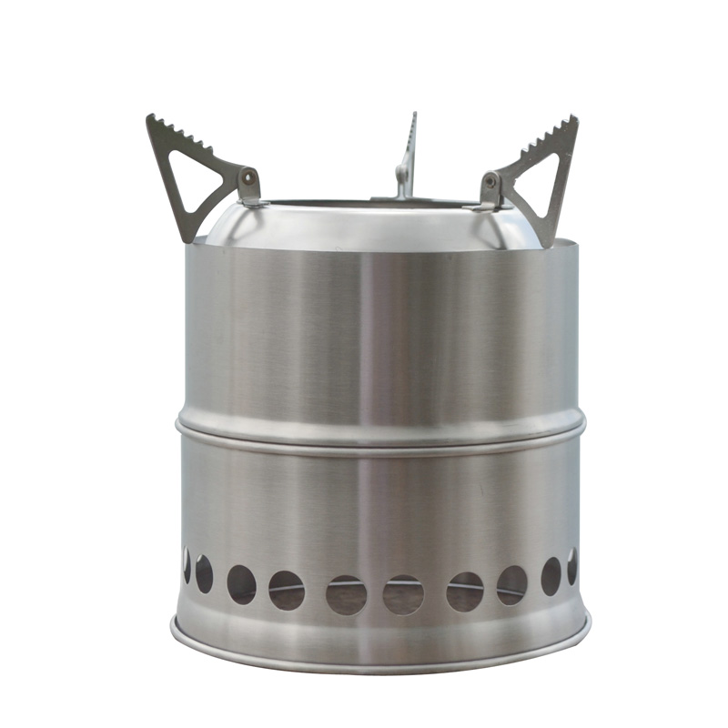 Portable stainless steel stove outdoor wood multi
