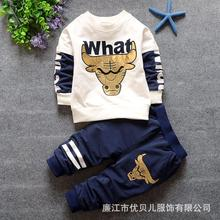 Long-sleeved Romper+pants)baby boy clothes 2016 new character clothing set baby boy Freeshipping