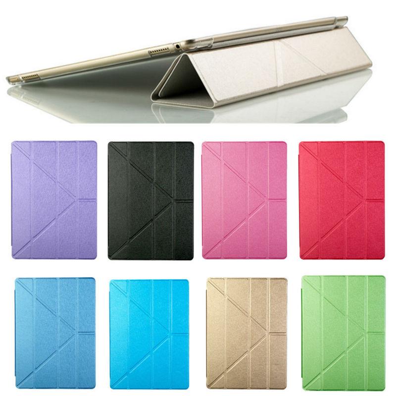 Leather ultra-thin Silk print Sleep folded Hard Cover Case For Apple iPad Pro 12.9 <br><br>Aliexpress