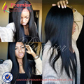 HOT Brazilian Virgin Hair Full Lace Human Hair Wigs 7A Grade Yaki Straight Glueless Lace Front