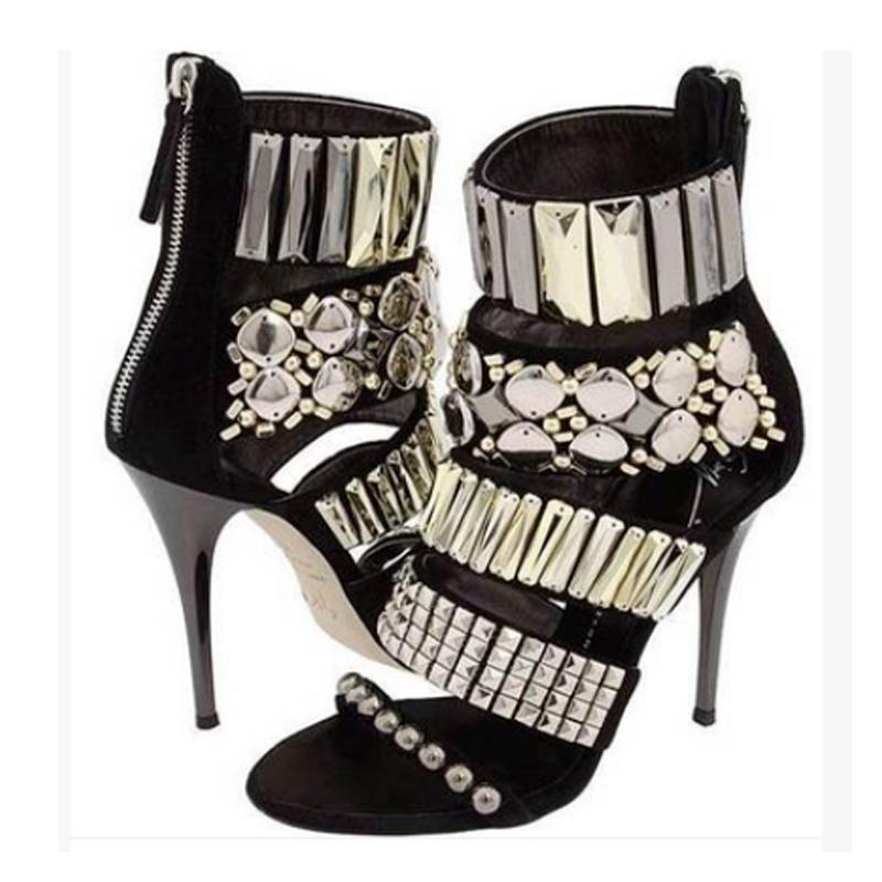 2015 new Western Style Sexy  Women Sandals Sequins high-heeled shoes summer sandals<br><br>Aliexpress