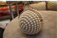 2015 de calidad superior moda mujeres perla bolsos de embrague mini monedero de la boda para las damas de fiesta de moda de la gota LHX43(China (Mainland))