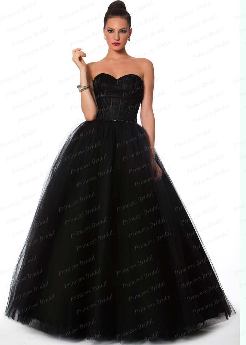 Free shipping puffy sweetheart beaded floor length long for Floor length gowns