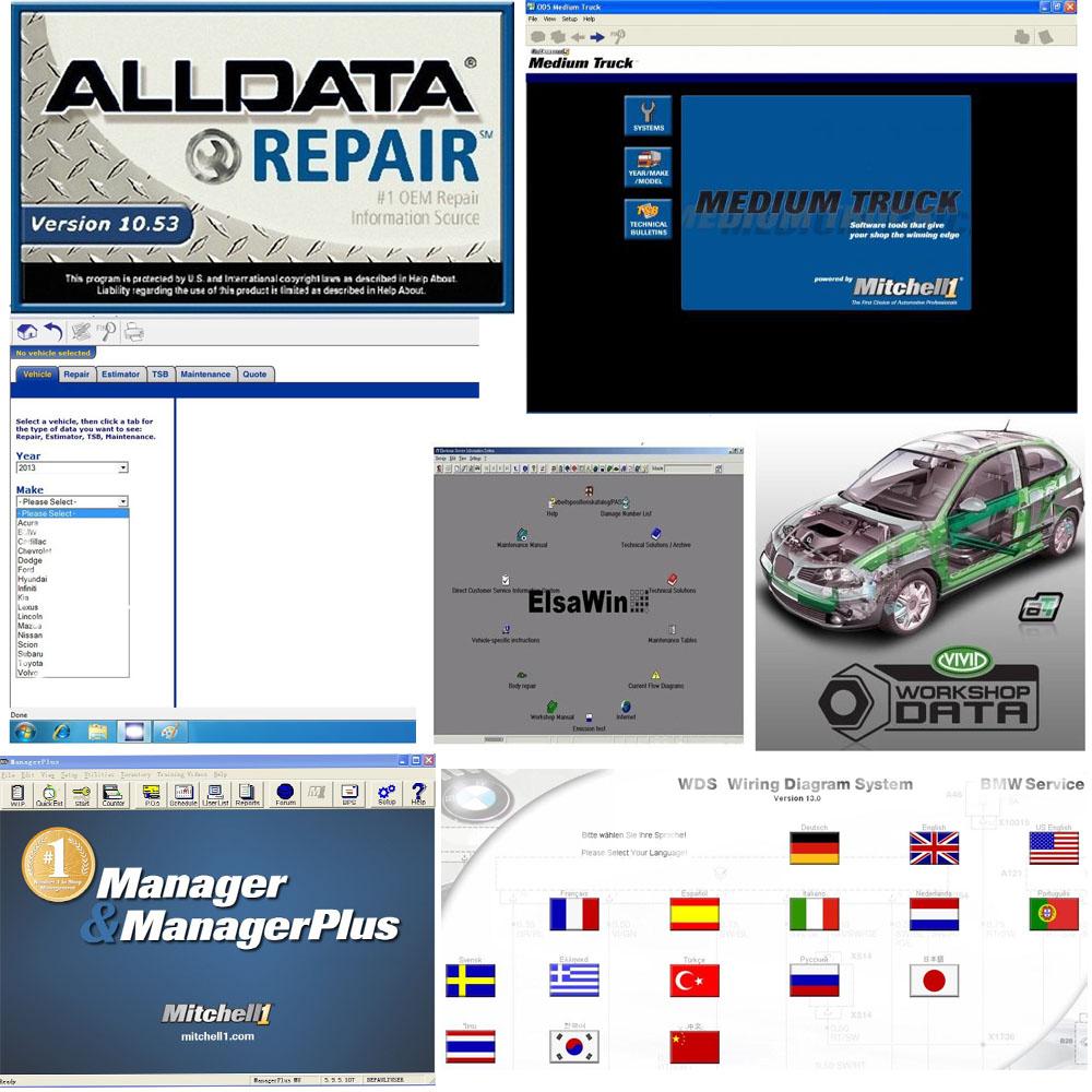 Aliexpress com buy 2015 auto repair software alldata 10 53 mitchell