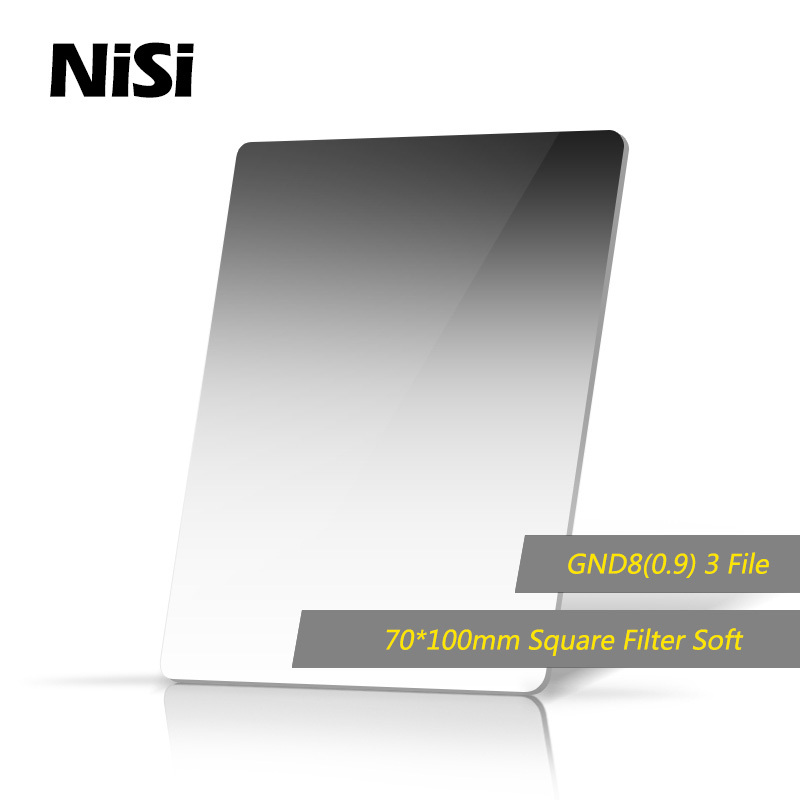 Фотография NiSi 70*100mm Square Filter Hard GND8(0.9) Filters Gradient Gray Filter Optical Glass Double Sided Coating