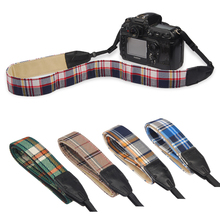 LYNCA Plaid Series Camera Neck/Shoulder Strap for Canon for Nikon for Sony for Pentax SLR DSLR Camera