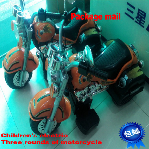 Three rounds of electric motorcycle car package mail toys for children(China (Mainland))