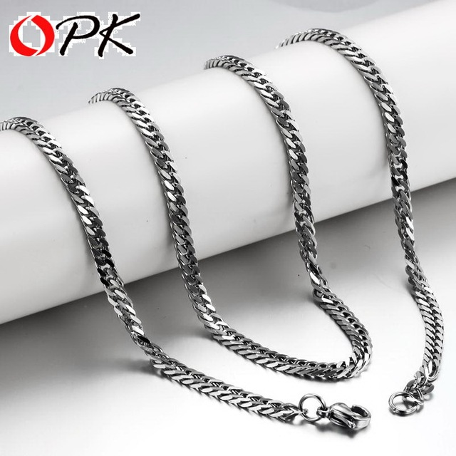 OPK FASHION JEWELRY Link Chain 316L Stainless Steel Necklace free shipping new airrival wholesaler 320