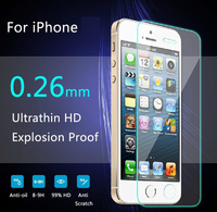 Arc 0.26mm for iPhone 5 tempered glass for iPhone 4 5 6 c s Plus screen protector for iPhone 5S tempered protective film