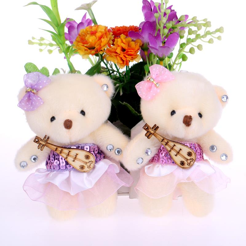 NEW Cute cotton teddy bear plush toys flower bouquets bear for ...