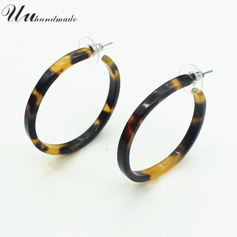 2016 Hot Sale Vintage Chic Handmade Ring Earrings For woman Fine Jewelry Lovely fashion simple personality circle ring earrings(China (Mainland))