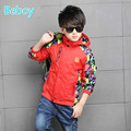 Leisure Gilrs Boys Fleece Jacket Windbreaker Outdoor Kid Waterproof Rain Jacket Unique Printed Full Zipper Coat
