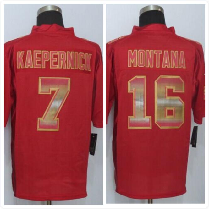 #16 Montana Red Strobe Limited Jersey , Best quality,Authentic Jersey,Size S M L XL XXL XXXL,Accept Mix Order(China (Mainland))