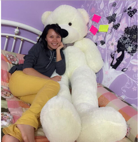 hot!White Teddy Bear Giant Huge Big Stuffed Animal Plush SoftToy-120cm(China (Mainland))