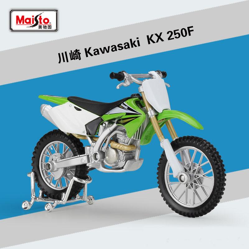 MAISTO 1:18 Kawasaki KX250F kx 250f MOTORCYCLE BIKE DIECAST MODEL TOY NEW IN BOX Free Shipping(China (Mainland))