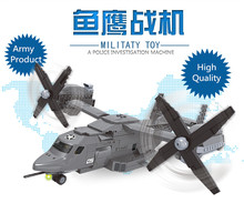 Army Assembling Bricks Toys For Boys Military Osprey Building blocks Helicopter building block
