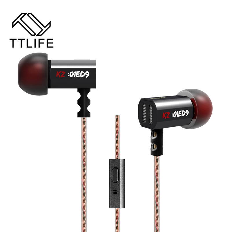 TTLIFE ED9 Original Super Bowl Tuning Nozzles T Shaped Driver Monitoring In Ear Earphone HiFi Earbud With Microphone Transparent(China (Mainland))