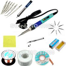 EU Digital LCD Adjustable Electric soldering iron or 936 Soldering station kit set Welding repair kit SET Tweezers/Solder tip/(China (Mainland))