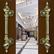 Free shipping Hot Luxury door handle style antique copper glass door handle burst section(China (Mainland))