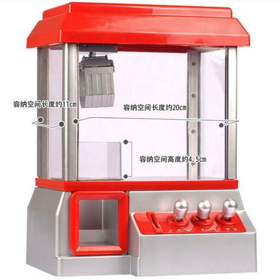 Coin Operated Game Candy Grabber Doll Candy Catcher Crane Machine Mini Toys Parent-child Interaction Funny Antistress Toys(China (Mainland))