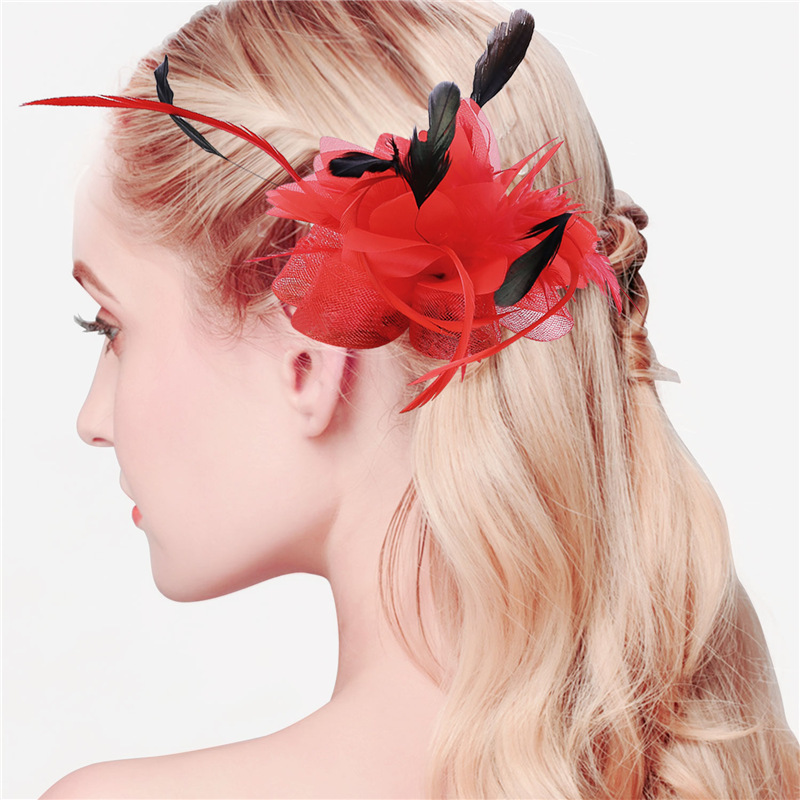 Women Chic Fascinator Hat Cocktail Wedding Party Church Headpiece Fashion Headwear Fancy Feather Hair Accessories 2016 New F2210(China (Mainland))