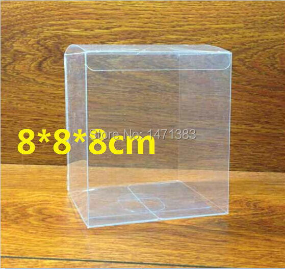 8*8*8cm Free Shipping Transparent PVC boxes wholesale clear plastic box(China (Mainland))