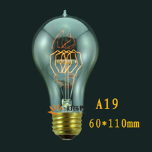 A19 40W 110V 220v Edison Vintage incandescent bulb Silk Light Lamp Personality Screw-mounted E27 bulb(China (Mainland))
